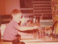 A young Alan Mellor with a Thomas Salter Chemistry Set 4!