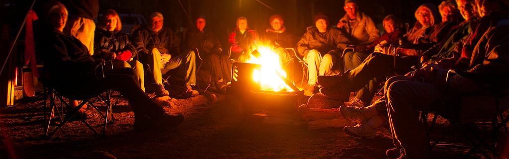 Storytelling around the campfire