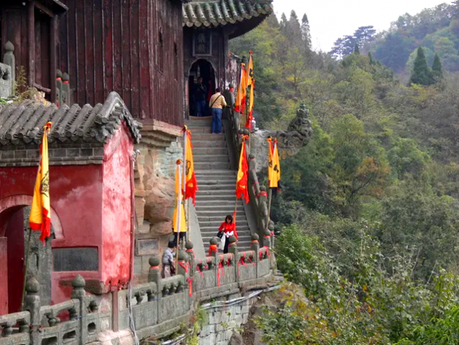 A staircase in Taoist temple in Mt. Wudang