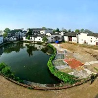 Chinese City and Village in Eight Trigrams Formation