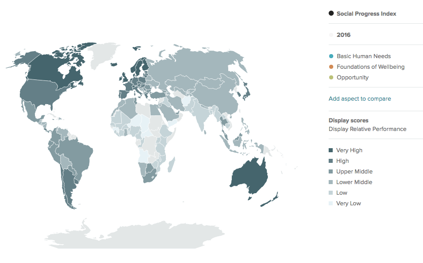 The future of government: Social Progress Index