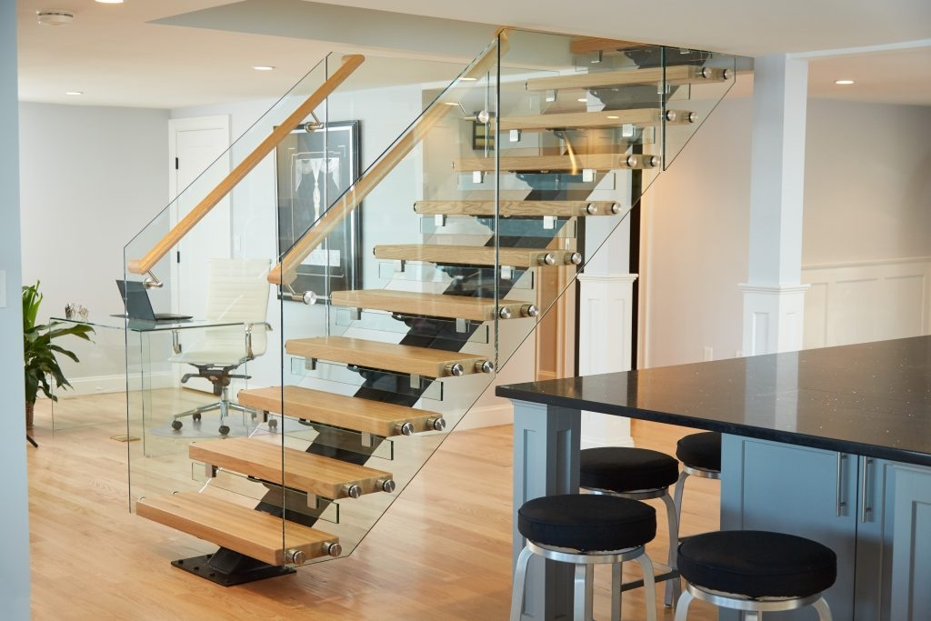 How You Can Build Floating Stairs Viewrail | Prefab Oak Stair Treads | Hardwood Flooring | Wood Flooring | Wood Stair | Solid Oak | Risers