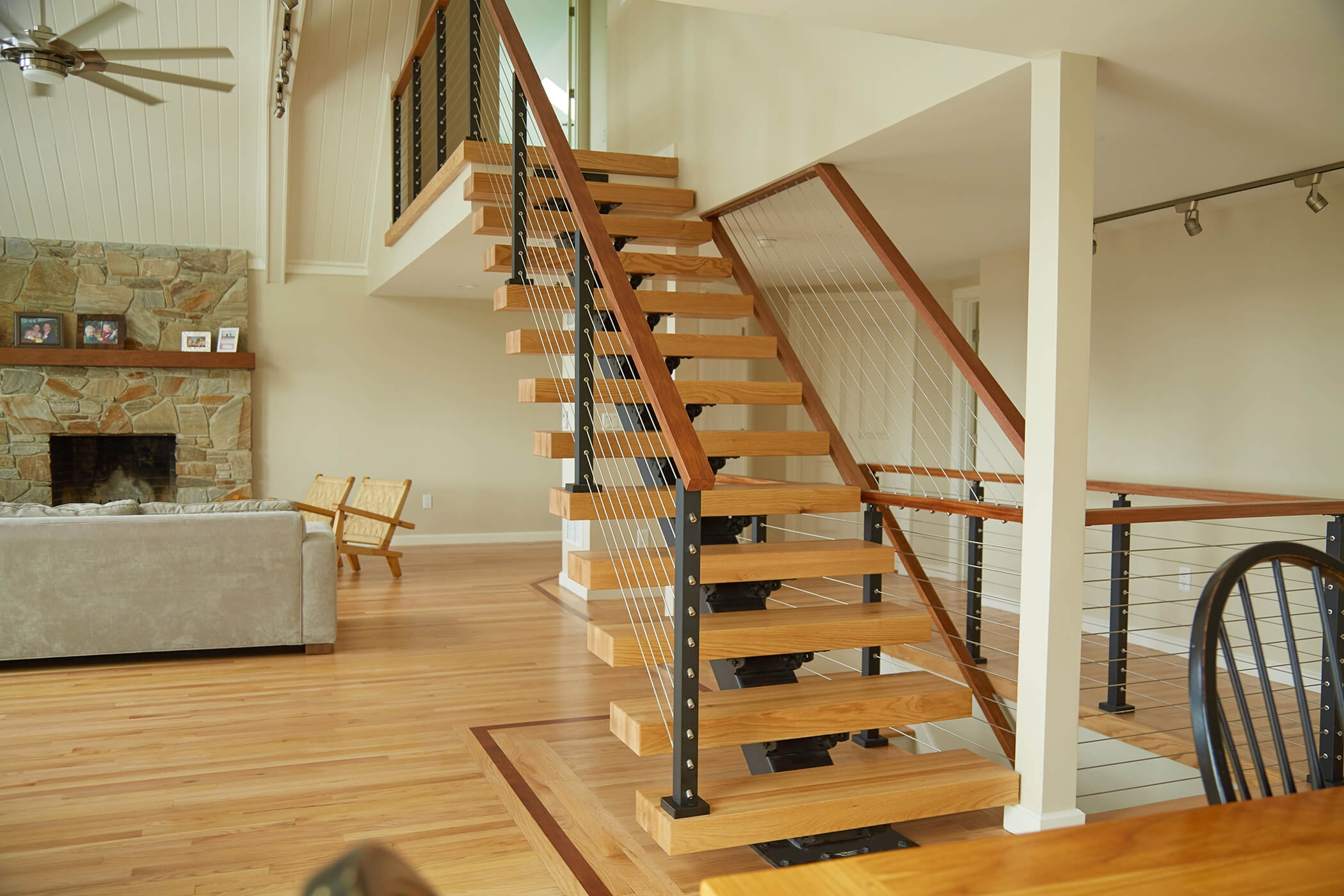 Are Floating Stairs Safe Open Stairs Floating Stair Safety   Converting Carpeted Stairs To Hardwood   Stair Case   Treads   Staircase Makeover   Stain   Wood Flooring