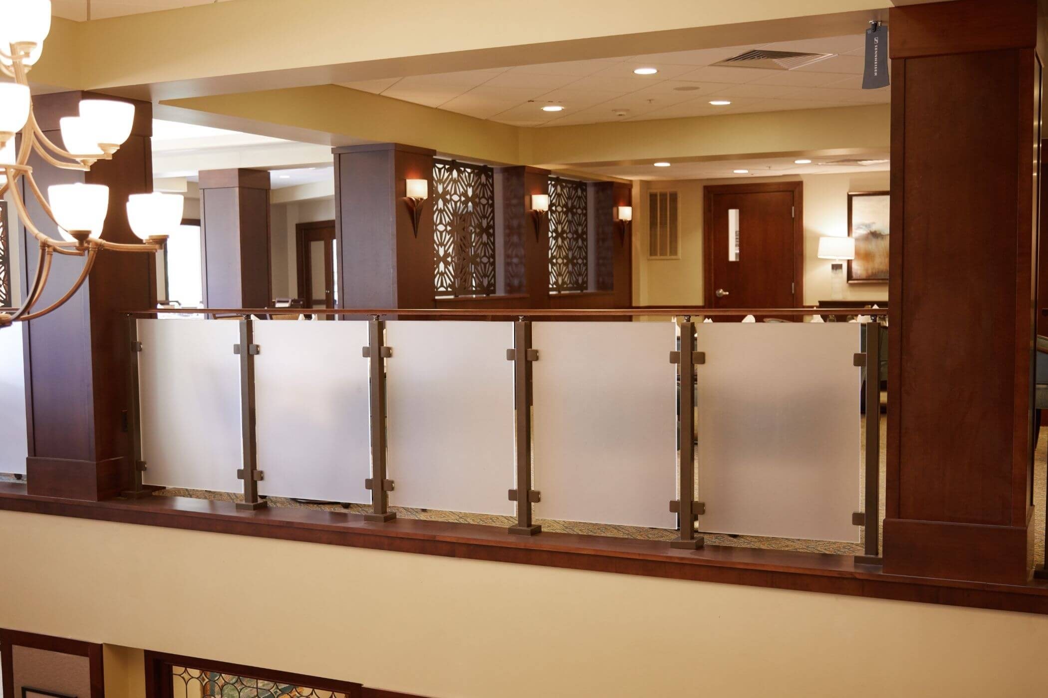 Frosted Glass Railing Viewrail   Wooden Handrail With Glass   Contemporary Wood Glass   Oak   Timber   Staircase   Steel