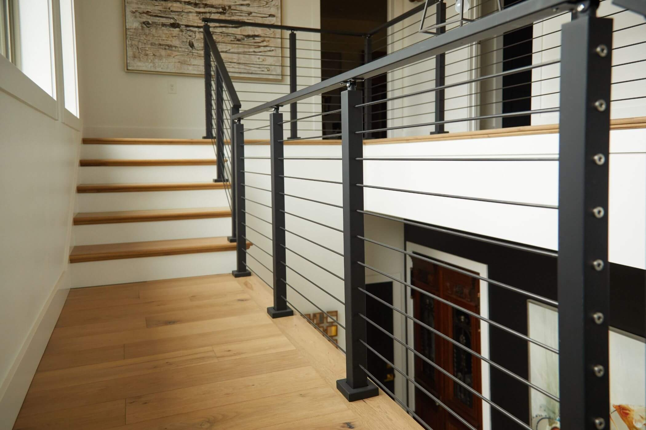 Stainless Steel Railing Rod Stair Railing Kits Posts Parts | Safety Handrails For Stairs | Wood Outdoor Hand | Baby Proofing | Wall | Rake | Front