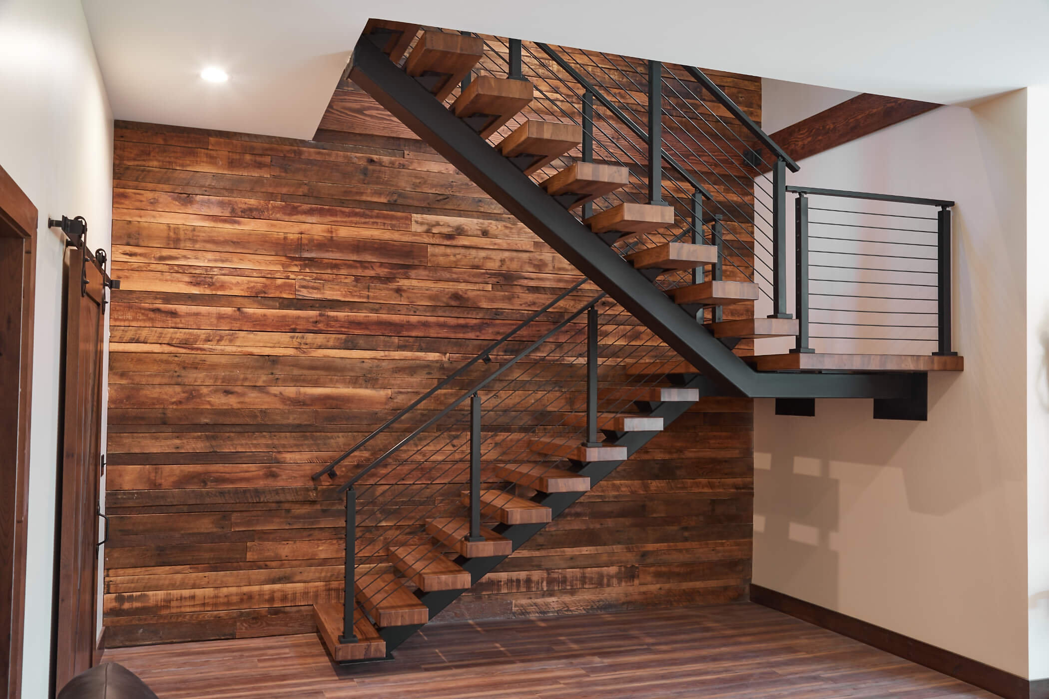 Floating Stairs Mono Stringers Open Riser Stairs Floating | Tread Riser Staircase Design | Effective | Contemporary | Cad Detail | Folded Plate | Angled