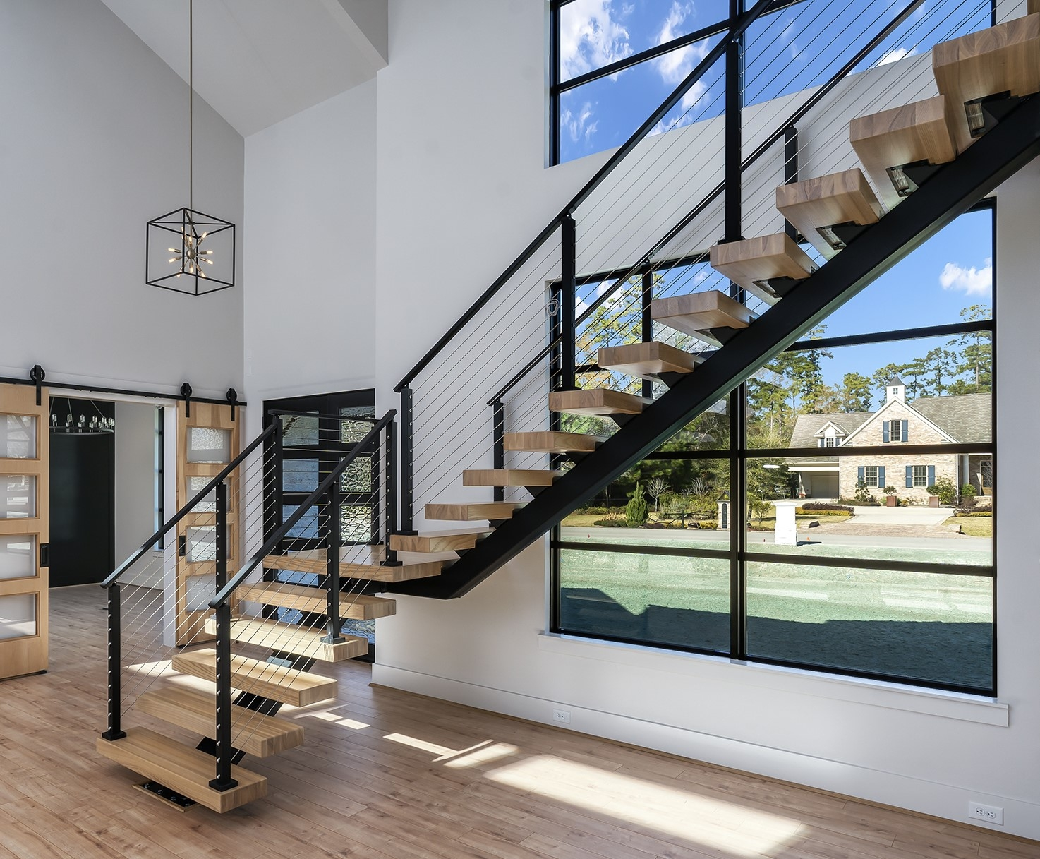 Steel Stairs Prefabricated Diy Metal Stairs Viewrail | Center Staircase House Plans | Georgian House | Spiral | Split | Room | Contemporary