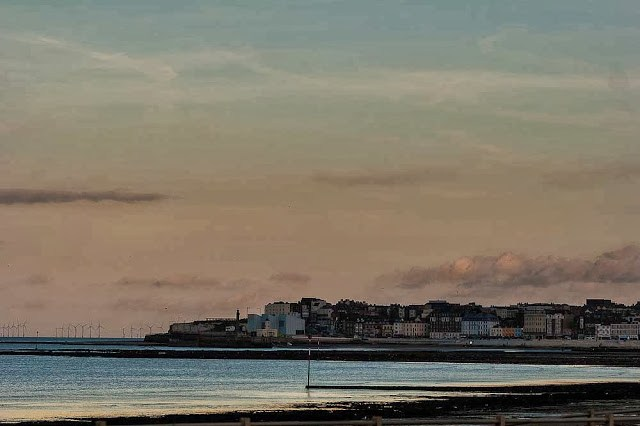 Margate in evening light (The Turner Centre is roughly centre)