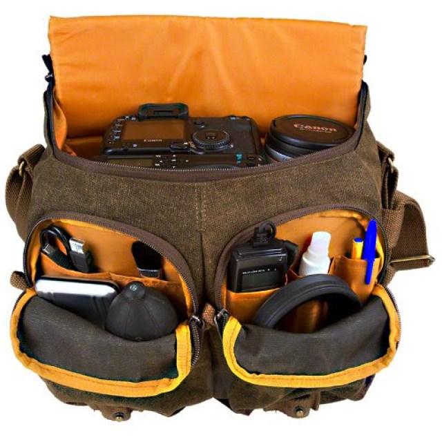 7 Day Shop Messenger Camera Bag Open