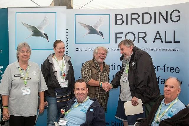 Bird Fair Weekend - Bill Oddie and the BFA team (minus me)