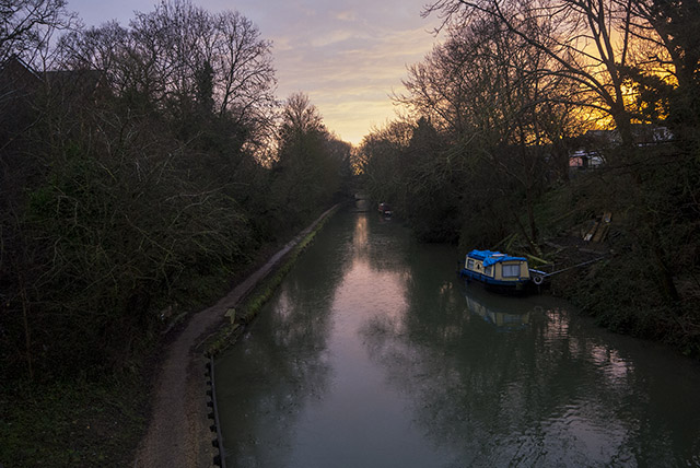 Golden Sunrise on the Grand Union Canal Old Wolverton