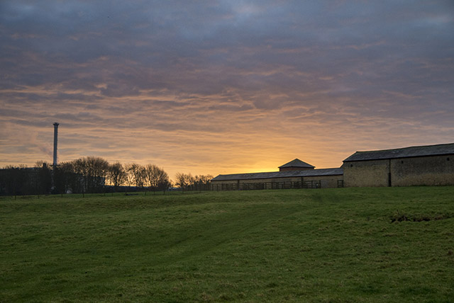 Manor Farm buildings at Sunrise
