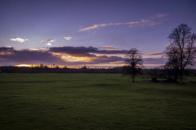 1st Jan Walk - Sunset in the Ouse Valley, Milton Keynes