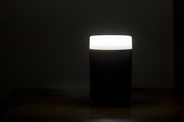 Lanktoo 2 in 1 LED Camping Lantern switched on in a dark room