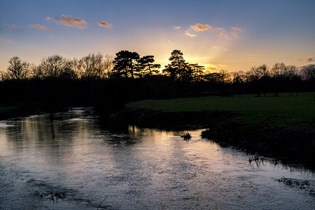 Chasing Sunset - Sun setting over the River Ouse in Milton Keynes