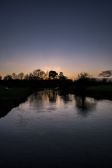 Deep Blues and Golden glows - Sunset over the River Ouse