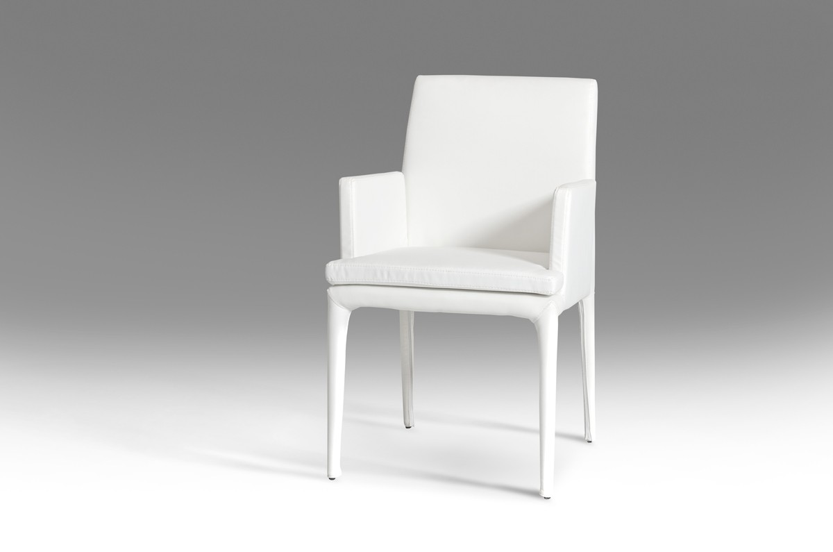 Modrest Dex Modern White Leatherette Dining Chair Dining Chairs Dining