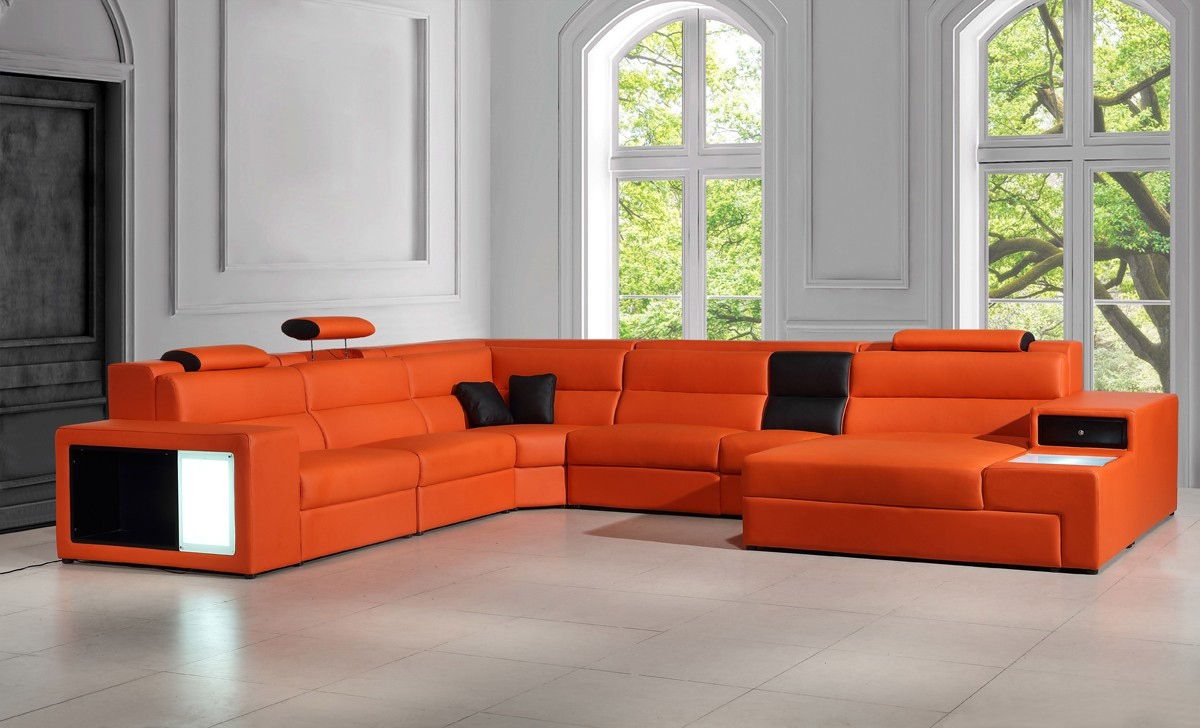 Sectional Couch Chaise And Ottoman