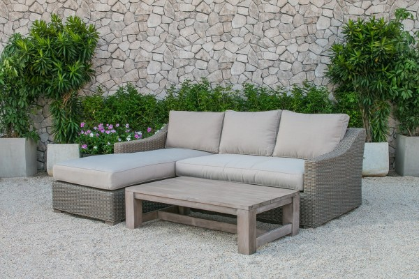 outdoor wicker patio furniture sectional sofa set Renava Seacliff Outdoor Wicker Sectional Sofa Set - Outdoor