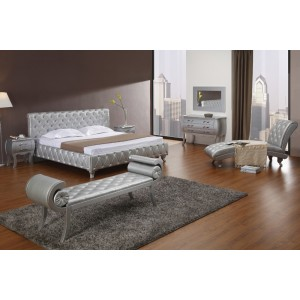 Modrest Volo Modern Eco Leather Bed With Curves Modern