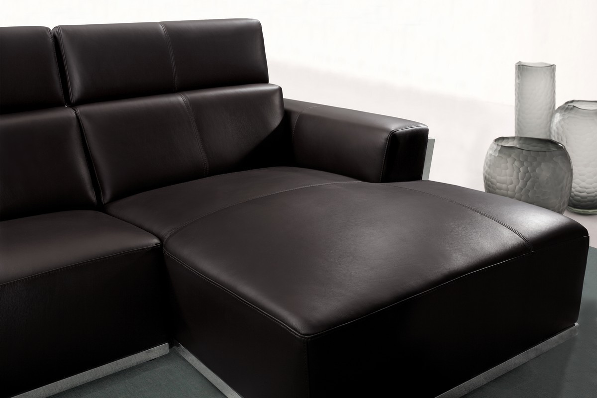 Leather Sectional Sofa Chaise