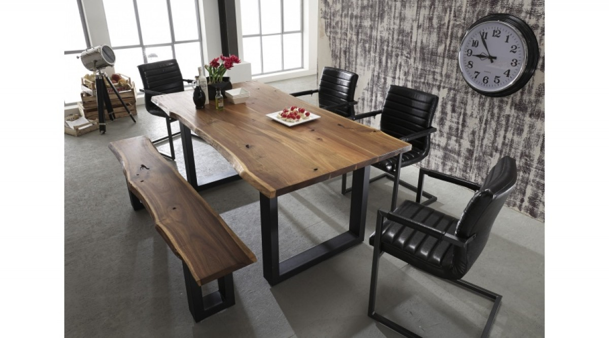 Modrest Taylor Modern Live Edge Wood Dining Table