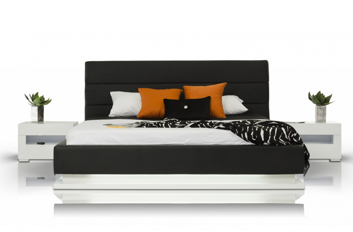 Modrest Infinity Contemporary Platform Bed With Lights