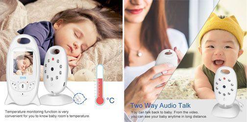 vigilabebes con camara barato - funcion temperatura y comunicacion bidireccional
