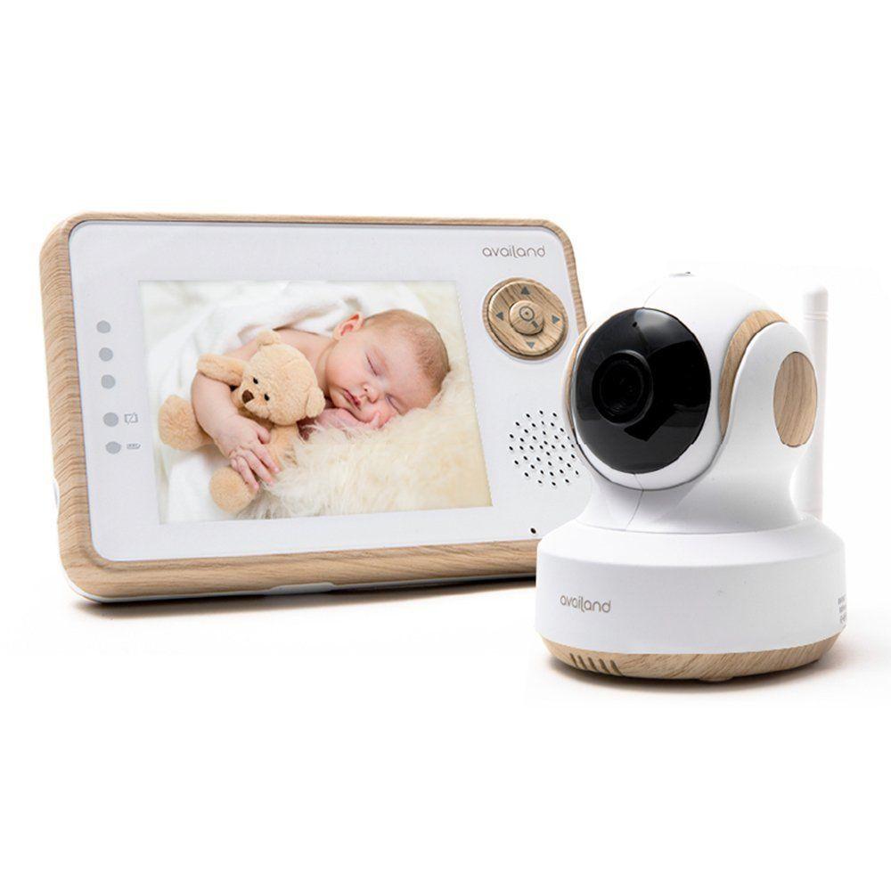 c/ámara de seguridad para beb/és Vigilabeb/és de 7 pulgadas con monitor de beb/é con c/ámara funci/ón de interfono. canci/ón de sue/ño c/ámara de visi/ón nocturna y control de temperatura