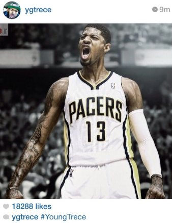 169380de6081 Paul George changing number to 13