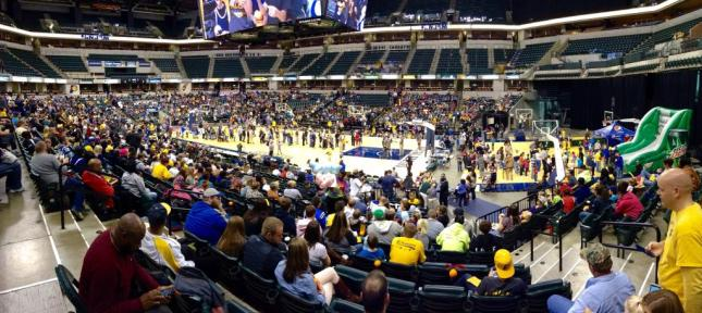 Almost 8,000 fans turned out for the Pacers annual FanJam event at Bankers Life Fieldhouse