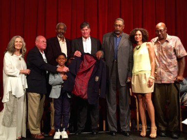 2015-07-19 Dropping Dimes - HOF jacket with Roger's daughter