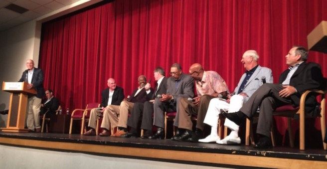 ABA Pacers took the stage at the JCC for a Dropping Dimes Fundraising event.