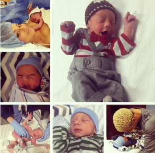 George Hill's son was born about four weeks premature.