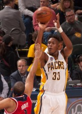 Myles Turner has shot 61.5 percent from the field in this Round 1 series. [Frank McGrath/PS&E]