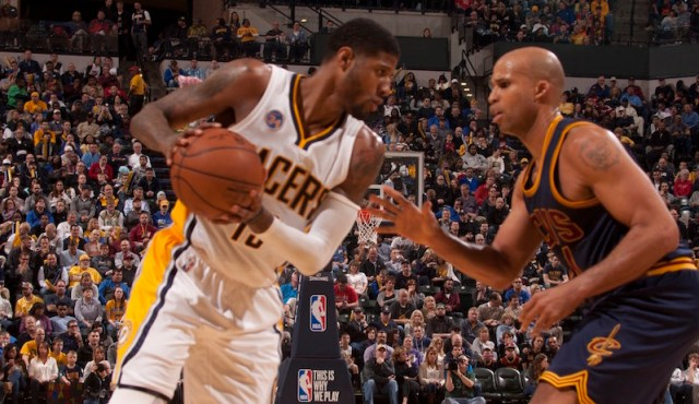Paul George had 33 points, six assists, four steals, and 4 rebounds. [Photo: Frank McGrath/PS&E]