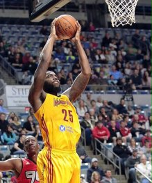 Rakeem Christmas played in all but two Mad Ants games this season.