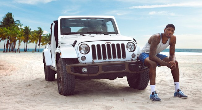 Paul George appears in two of three Jeep ads for their summer campaign. [Photo: Jeep]