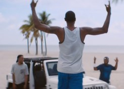 George and three friends are included in Jeep's summer spot.