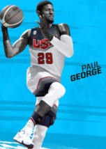 George's label shows him in a Team USA uniform.