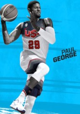 In his Team USA uniform, George will be on limited-edition bottles of Gatorade this summer.