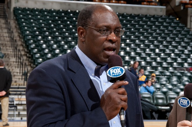 Quinn Buckner is the TV analyst for Pacers games on FSI. [Photo: Frank McGrath/PS&E]