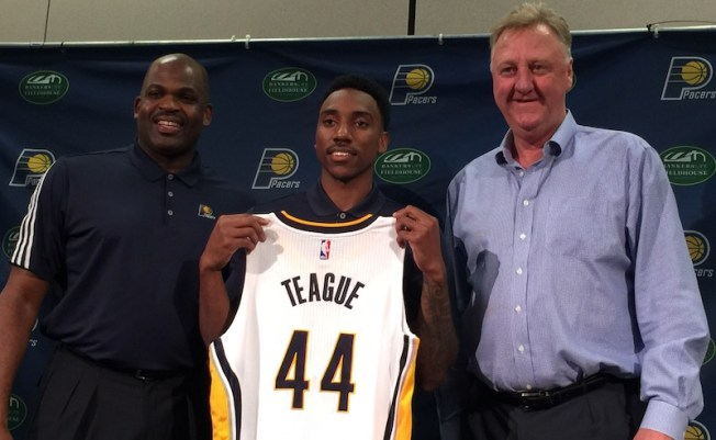 Jeff Teague was officially introduced as a Pacer on July 11, 2016.