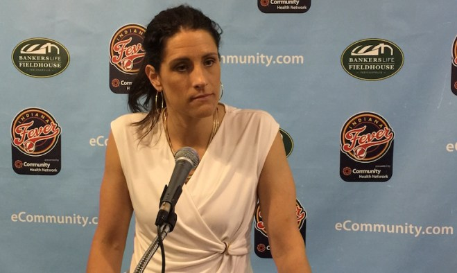 Stephanie White is in her second season as Fever head coach.
