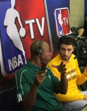 Niang's double-double earned him postgame TV duties.