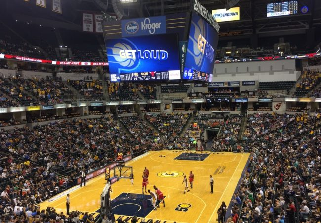 The Pacers squared off in a regular preseason meeting at The Fieldhouse.