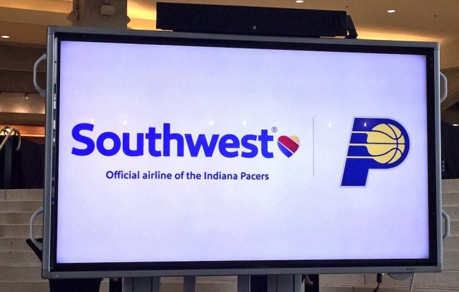 Southwest Airlines becomes the official airline of the Indiana Pacers.