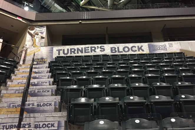The latest fan section at Bankers Life Fieldhouse: Turner's Block.