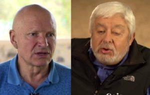"""Os especialistas: Konstantin Korotkov (imagens da alma) e Jaime Maussan (""""flotilhas"""" de OVNIs). Fotos: reprodução."""