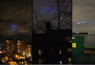 Luzes púrpuras ou azuis no céu em países como Espanha, Holanda e EUA geram especulação sobre UFOs e outros fenômenos